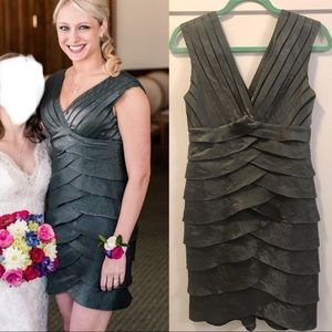 Adrianna Papell gray cocktail dress